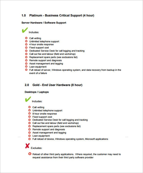 sample remote it support contract template pdf download