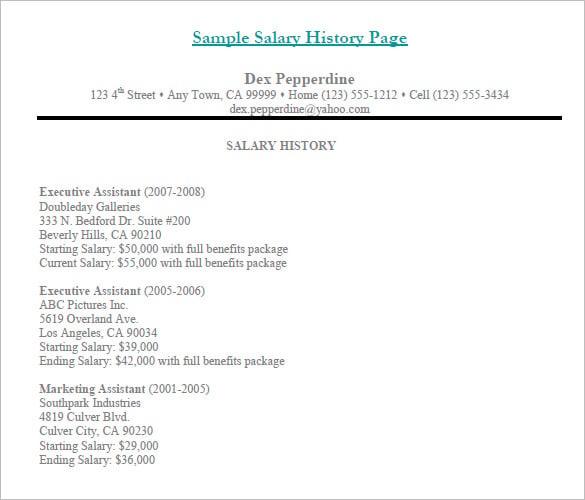 How To Send Salary History Under Fontanacountryinn Com
