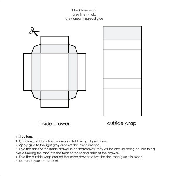 sample template for make cardboard gift boxes
