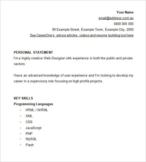 Resume Samples Format  Resume Format And Resume Maker