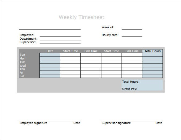7+ Weekly Paycheck Calculator – Free Word, Excel, PDF format ...