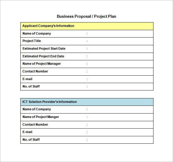 sample of business proposal