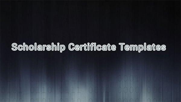 scholarshipcertificatetemplates