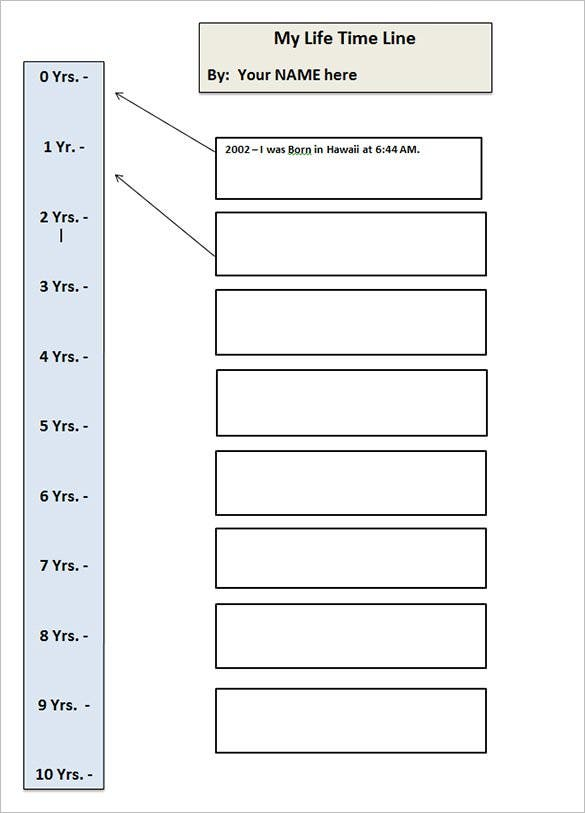 Timeline Templates For Students  Free Sample Example Format