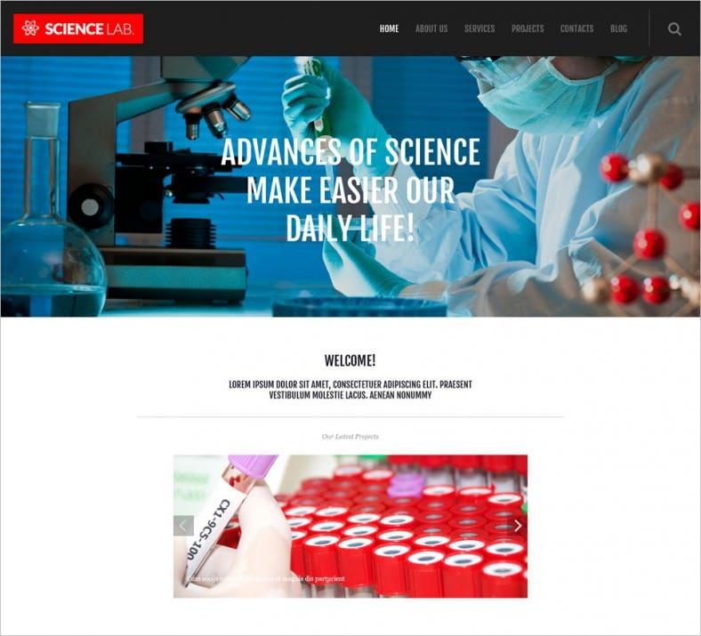 16+ Laboratory WordPress Themes & Templates | Free & Premium Templates