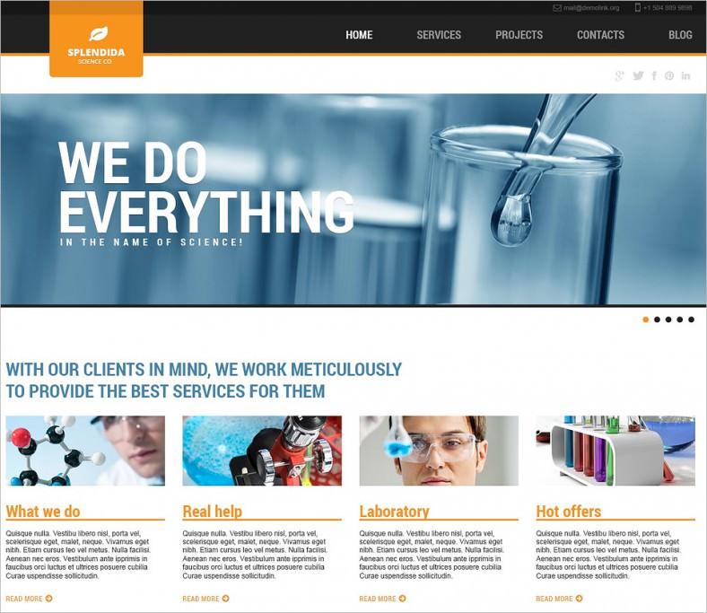 science laboratory wordpress theme 788x683