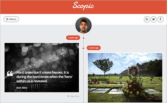 scopic a personal timeline website template tumblog
