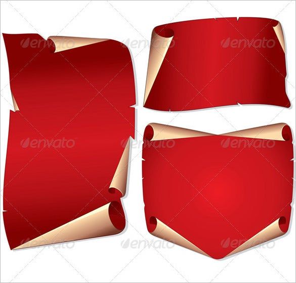 scroll paper template vector image photoshop 5