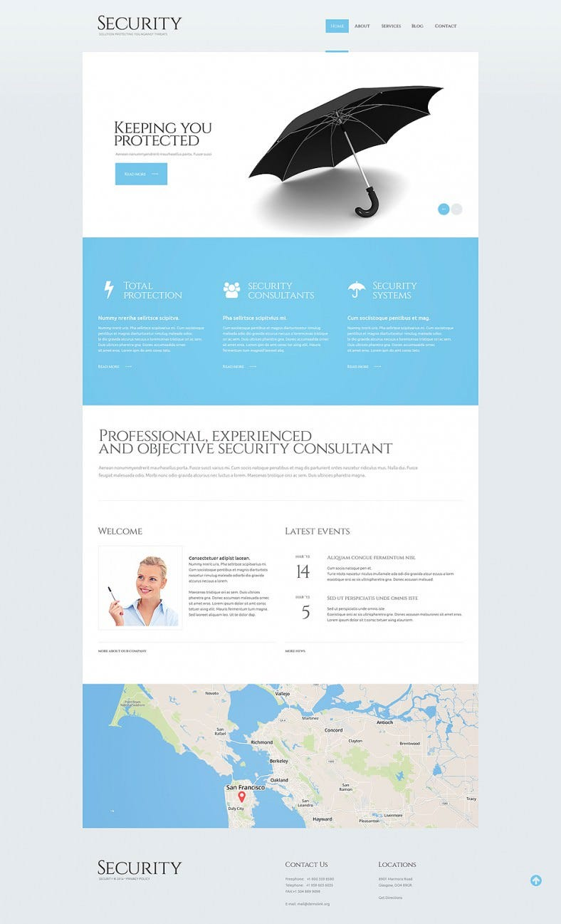 security guard responsive wordpress theme 788x1297