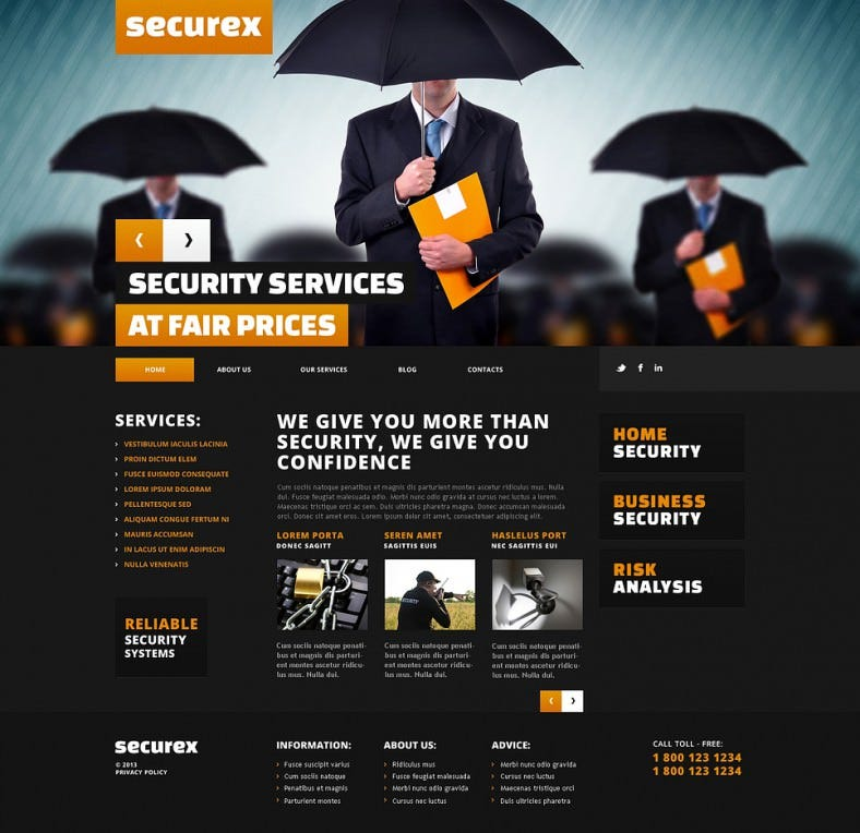 security services responsive wordpress theme 788x764