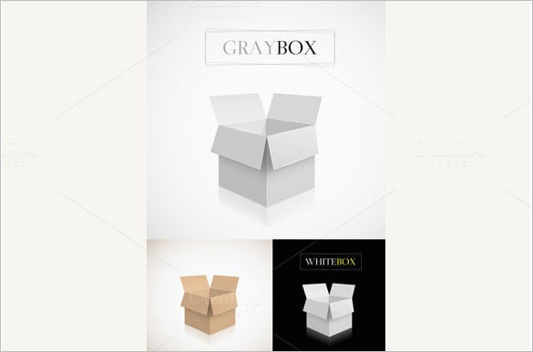 set of paper carton box pattern 3