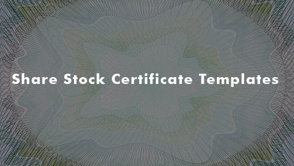 share stock certificate templates