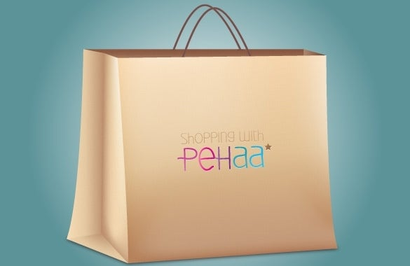 shopping paper bag template illustrator download