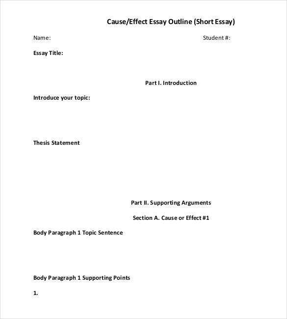 Short-Essay-Outline-Template1 Example Of Proper Paper Format on proper paper layout, academic abstract format, essay format, manuscript format, works cited format, example of a report format,