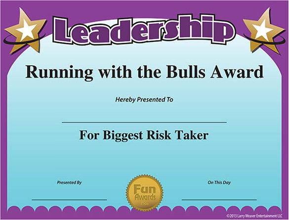 10 funny certificate templates free word pdf documents for Fun run certificate template