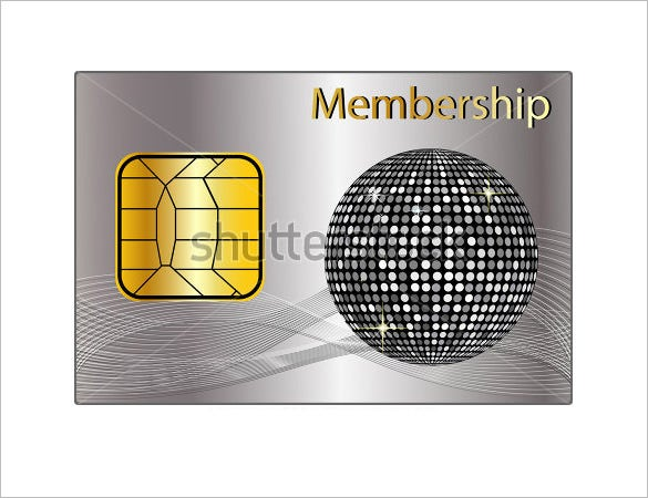silver psd membership card design