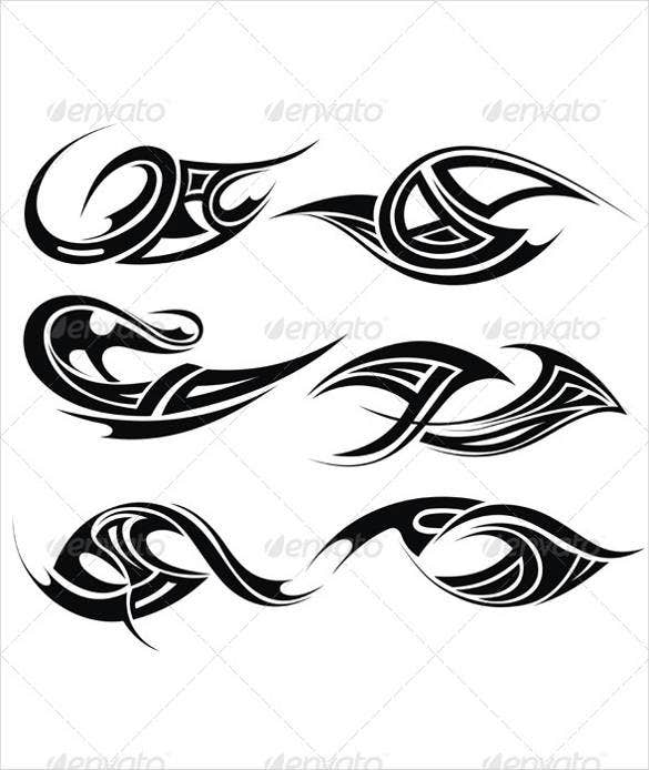 simple cool tribal tattoo design