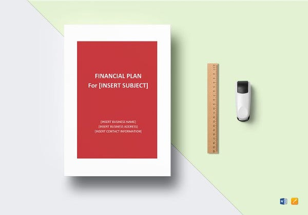 simple financial plan word template