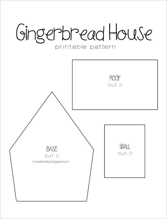 simple gingerbread house pattern template