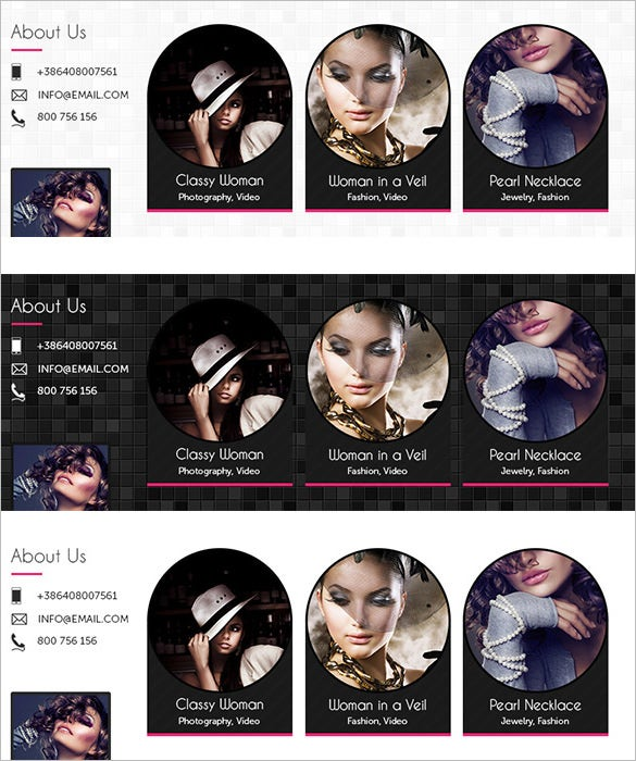 simple goth facebook timeline template psd 3
