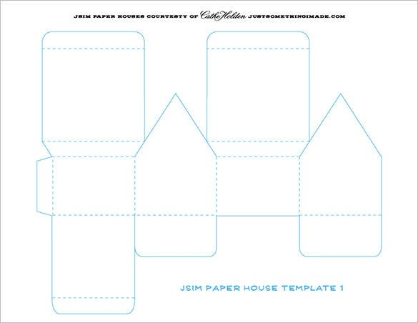 Paper house template 19 free pdf documents download for How to make a house step by step
