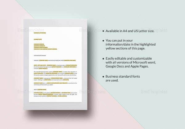 28 press release template word excel pdf free premium templates