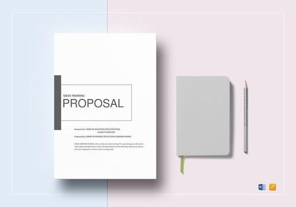 simple sales training proposal template download