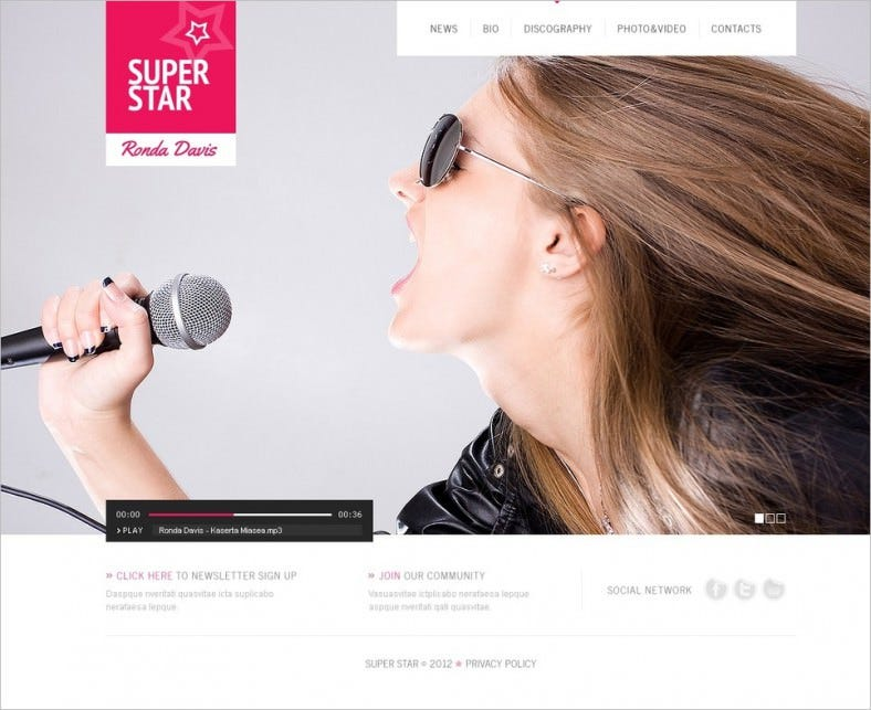 singer website template 4 788x643