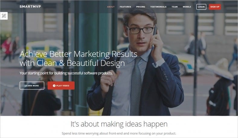 Fully Responsive Startup Landing Page Template