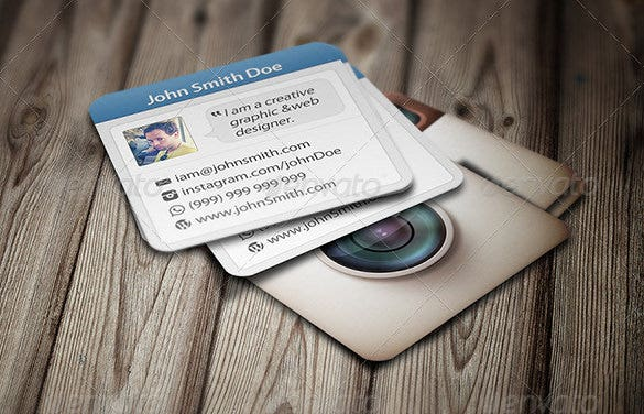 social photoshop psd photo crad template
