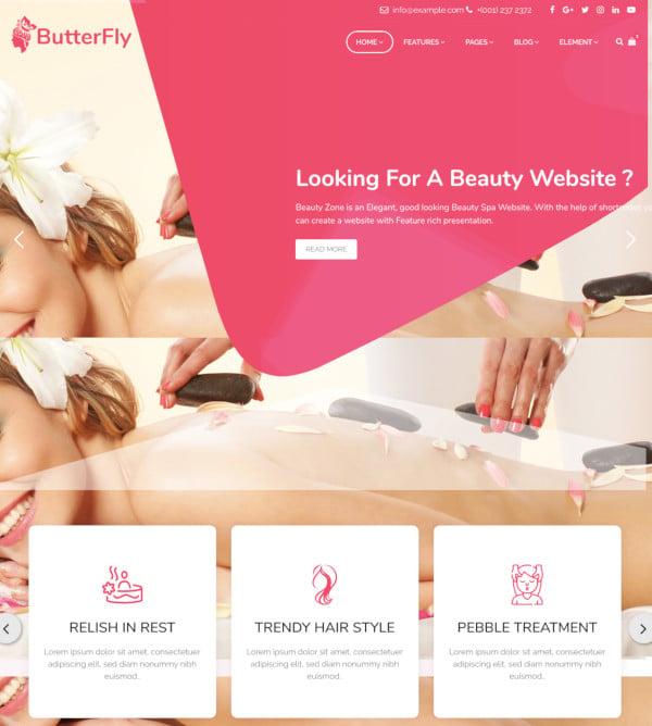 spa beauty salon massage template