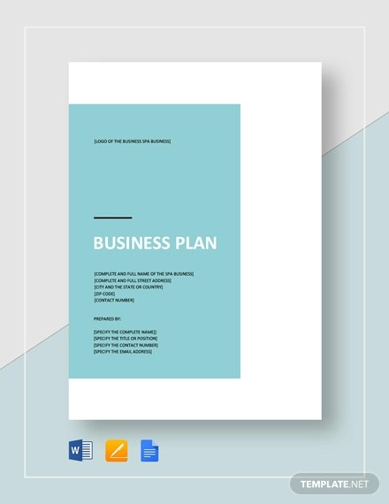 23 Spa Salon Business Plan Templates Google Docs Ms