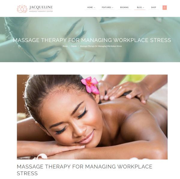spa massage salon site template