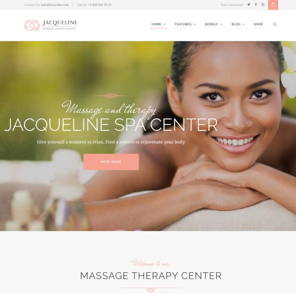 spa massage salon wordpress theme