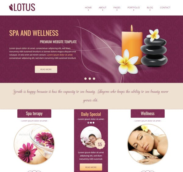 spa wellness html responsive template
