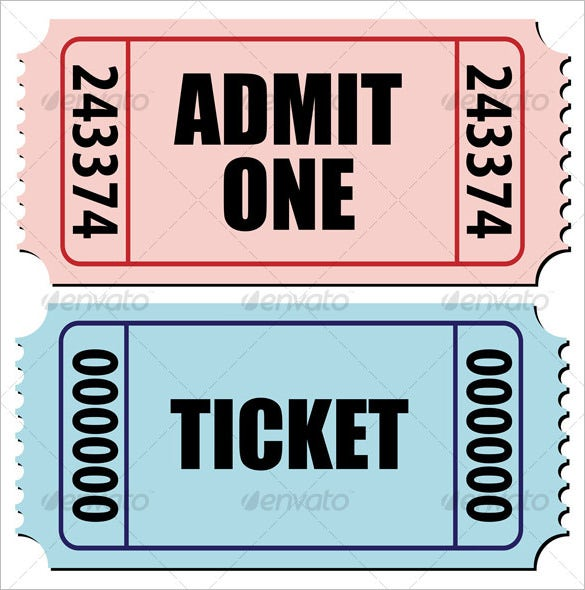 Sports Activity Blank Editable Ticket