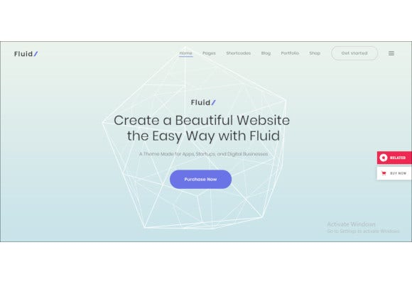 startup and app landing page theme