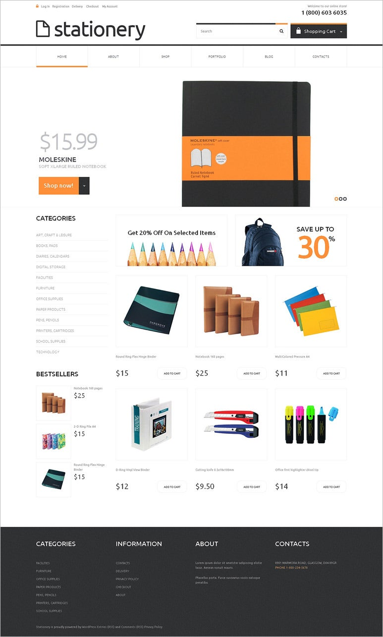 stationery responsive woocommerce theme