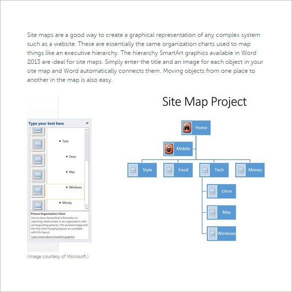 Site map template 21 free excel pdf documents download free steps to create a site map in microsoft word pronofoot35fo Images