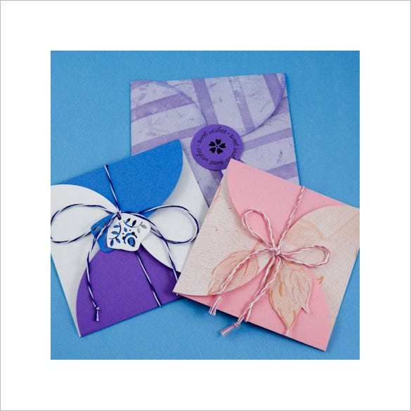steps to making a square petal envelope template