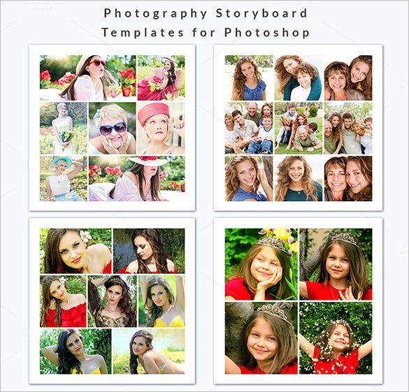 Storyboard Template 12×12 Photoshop Format