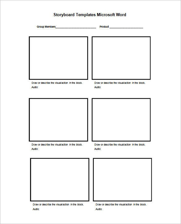Digital Storyboard Templates. Free Storyboard Template In