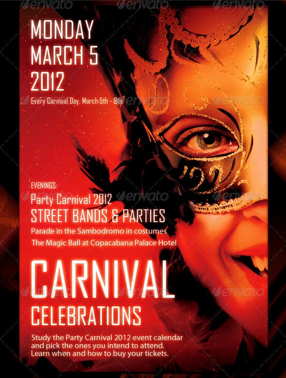 street bandits carnival flyer template