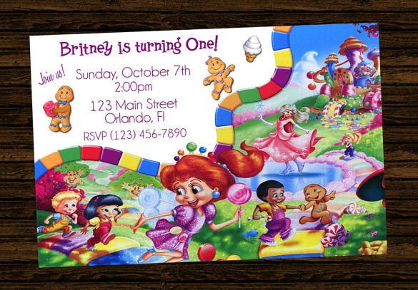 stunning candyland invitationn template