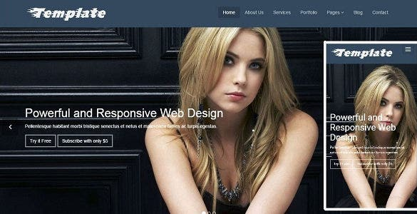 stylish attractive html5 template