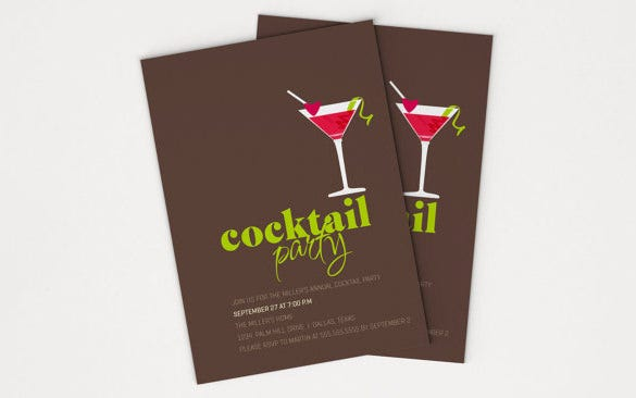 stylish cocktail party invitation