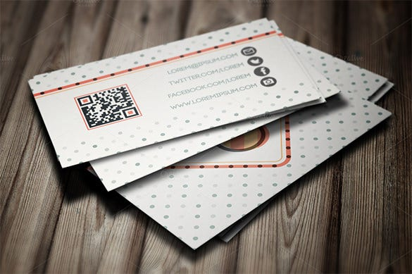 stylish vintage visiting card template 6