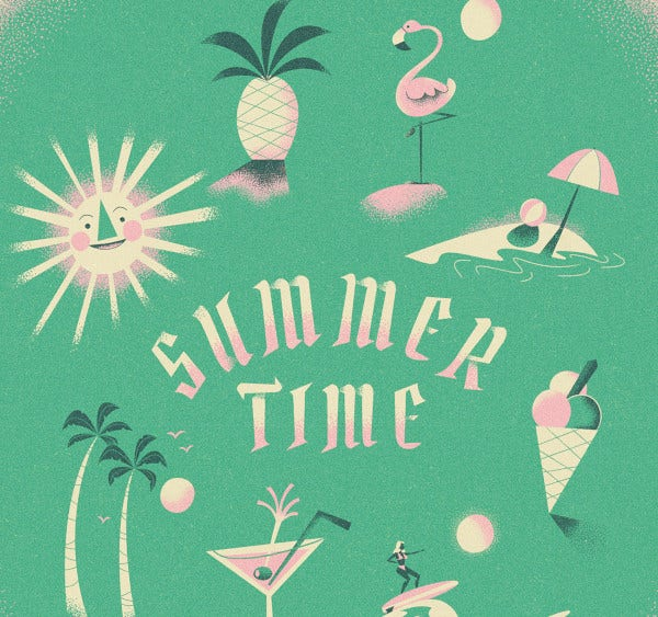 summer time illustrations