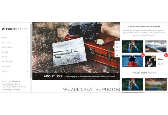 superb photography wordpress theme