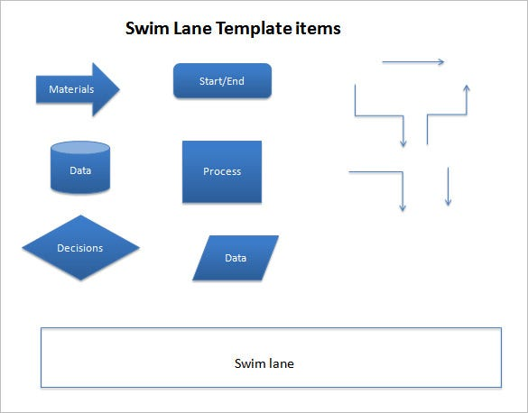 swim lane ppt template free download